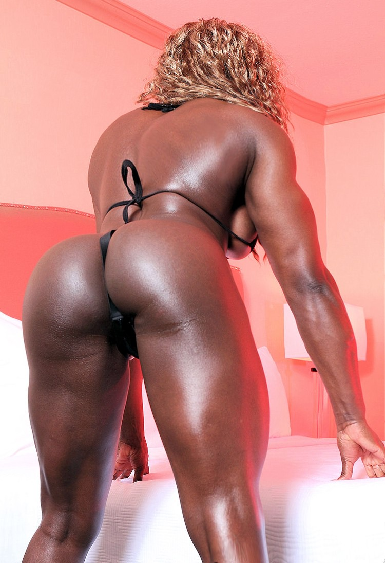 Sexy Black Female Bodybuilder with huge muscles from wonderful katie ...
